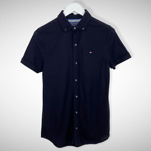Tommy Hilfiger Button Up Black Polo Shirt