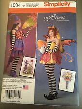 Simplicity Pattern 1034 Fantasy Fairy Pixie Witch Costume Misses Sz 6 to 14 New