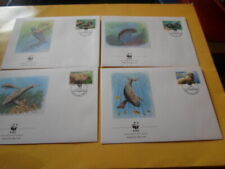 Vanuatu 1988 Wwf Manatees Dugong 4 FDC First Day Covers
