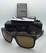 Battlestations VONZIPPER Sunglasses VZ ELMORE Black & Gold Satin Frame w/ Mirror