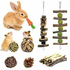 Bunny Chew Toy, 100% Natural Apple Wood Chinchillas Guinea Pig Hamsters Pet Toys