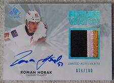 11/12 SP Authentic Roman Horak Future Watch Limited Auto Patch RC Card #76/100