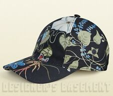 GUCCI black S signature FLORA by KRIS KNIGHT Baseball Hat cap NWT Authentc $365