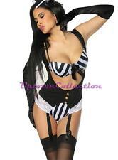 Burlesque Moulin Rouge Vegas sexy Showgirl  Halloween Adult Dance Costume New