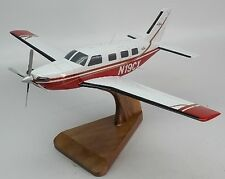 Piper Meridian Private Airplane Desktop Wood Model Small New
