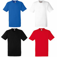 FRUIT OF THE LOOM HEAVY COTTON T SHIRT S-XXL 4 COLOURS