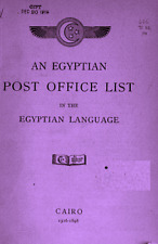 An Egyptian post office list in the Egyptian language by W. Fiske.