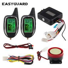 Easyguard 2 way motorcycle alarm system remote start shock/Motion sensor alarm