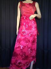 Vintage evening Dress sleeveless Pink satin Art Deco refashioned Edwardian gown