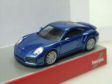 Herpa Porsche 911 Turbo, blaumetallic  - 038614 - 1/87