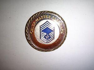 Virginia Air National Guard Chef Maître Sergent E-9 Rang Challenge Pièce Neuf