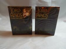 LORD OF THE RINGS TCG ENTS OF FANGORN PAIR OF FARAMIR & WITCH KING STARTER DECKS