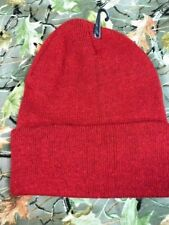 RED  Knit  Beenie Hat ONE SIZE FITS ALL MEN OR WOMEN NEW