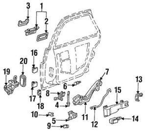 OEM Genuine GM Exterior Door Handle 87-97 Buick Chevrolet Oldsmobile 16626761
