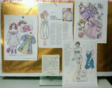 Charles Ventura Paper Doll Collection*Signed Autographed Card*Magazine page