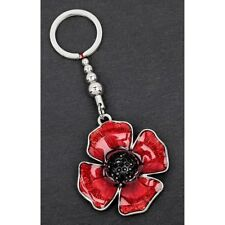 Equilibrium Silver Plated Accessories - Poppy Key Ring 274405