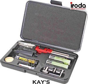 Gas Soldering Iron Kit 30-125w Pro Iroda Solderpro 150KB Refillable Butane Torch