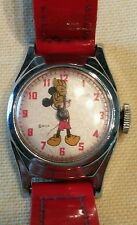 RARE VINTAGE CIRCA 1946 MICKEY MOUSE WRISTWATCH INGERSOLL US TIME CORP