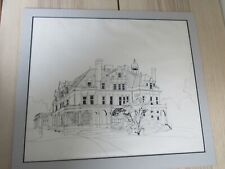 Lockwood Mathews Connecticut Ink drawing Victorian House