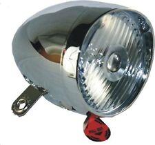 Nostalgie Scheinwerfer Fahrrad Licht Crome Retro LED Lampe 4 Lux Hollandrad Neu