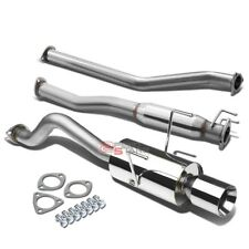 "FOR RSX DC5 TYPE-S K20A2 STAINLESS CAT BACK EXHAUST PIPE MUFFLER 4""ROLLED TIP"