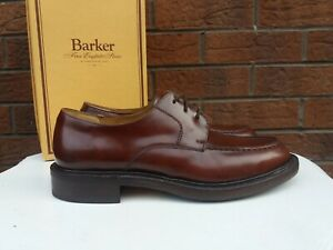 BARKER EARLS BARTON MENS UK SIZE 7 CHESTNUT BROWN LEATHER LACE UP SHOES VGC