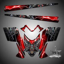 Polaris IQ RMK Shift Dragon Graphics Decal Wrap 05-12 with Tunnel Guardian Red