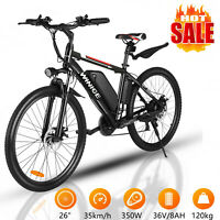 "Elektrofahrrad 26"" E-bike Elektro Bike Mountainbike 350W Fahrrad Pedelec 21-Gang"