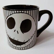 New Jack Skellington Nightmare Before Christmas Skull Stripes Ceramic 14 oz Mug