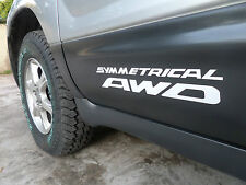 SUBARU DECALS Stickers symmetrical AWD