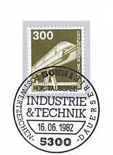 BRD 1982: Magnetschwebebahn Nr. 1138 mit Bonner Ersttags-Sonderstempel! 1A! 1512