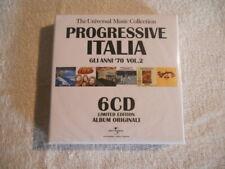 Progressive Italia Gli Anni '70 Vol.2  6cd Box Set 2009 New Sealed Universa Rec.