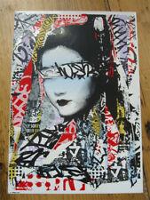 HUSH Large Sticker un-signed Geisha Siren Print Rouge Fade