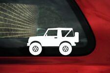 2x ADESIVI sollevato OFFROAD CAMION-PER SUZUKI SAMURAI sj410 Cabrio 4x4