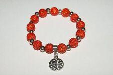 New Rustic Orange Stainless Steel Kaleidoscope Style Bracelet  Cuff