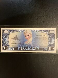 FROZEN Disney $1,000,000 One Million Dollar Bill in case - Disney Princess