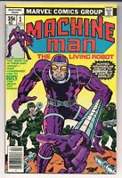 Machine Man 1 Near Mint+ (9.6) Bright White Pages - Jack Kirby Art