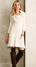 Sleeping on Snow Meli Cable Sweater Dress XS Anthropologie