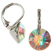 8mm Ohrringe mit Swarovski Kristall in der Farbe Nordlicht Vielfarben