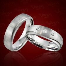2 Trauringe 925 Silber Gravur+Etui Eheringe Verlobungsringe Partnerringe pr28t