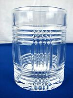 RALPH Lauren GLEN PLAID Double OLD FASHIONED Crystal Whiskey GLASS 11.8 oz