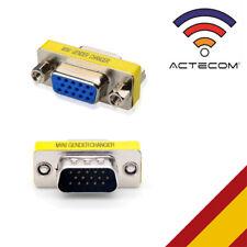 ACTECOM® CONECTOR ADAPTADOR VGA HEMBRA / MACHO DB15 PINES PROLONGADOR