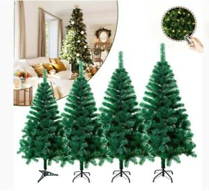 6FT CHRISTMAS TREE WITH 200 LIGHT  DECORATION ARTIFICIAL XMAS