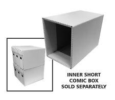 Bundle / 10 Corrugated Cardboard Short Comic Book Houses drawers shells Improved