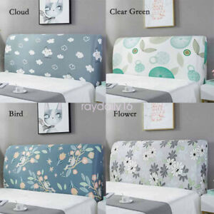 Soft Headboard Slipcover Protector Stretch Dustproof Cover with Various Patterns