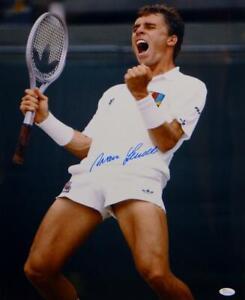 Ivan Lendl Autographed 16x20 Celebrating Photo- JSA Witnessed Auth