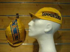 Rennrad Cap GELATI SAMMONTANA Vintage Cap Singlespeed Fixie Mütze gelb-blau