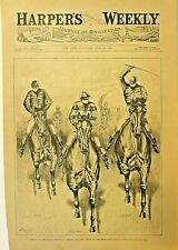 Bronx New York, Jerome Park, Opening Day, Horse Race, Vintage 1882 Antique Print