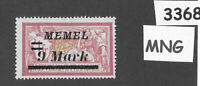 #3368  9.00 Mark  MNG stamp Sc81 1922 Memel / Lithuania / Prussia / Germany WWI