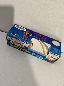 Vintage 1989 Nintendo Wall Trim Border Super Mario Roll Peach